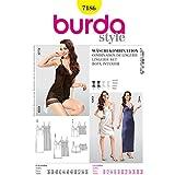 Burda Ladies Easy Sewing Pattern 7186 Night Gowns & Lingerie Set