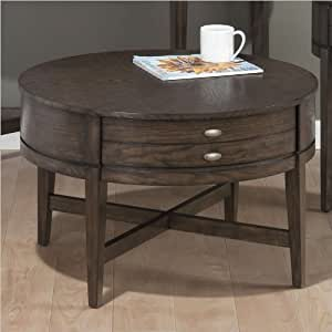 jofran miniatures round coffee table in antique gray ash rectangular coffee table. Black Bedroom Furniture Sets. Home Design Ideas