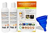 Hidden Sunscreen Alcohol Flask Gift Set, 2 - 8oz Bottle Pack with Collapsible Silicone Funnel