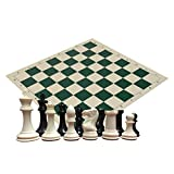 Quadruple Heavy Weight Chess Set for Schools, Clubs and Tournaments - 34 Ivory/Black Pieces (2 Extra Queens), 4
