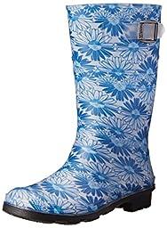 Kamik Daisies Junior Rain Boot (Little Kid/Big Kid), Blue, 11 M US Little Kid