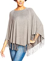 SO CACHEMERE Poncho Paola (Gris)
