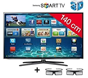 SAMSUNG UE55ES6300 3D LED Smart TV + F3Y021BF2M HDMI 1.4 Cable - 2 m