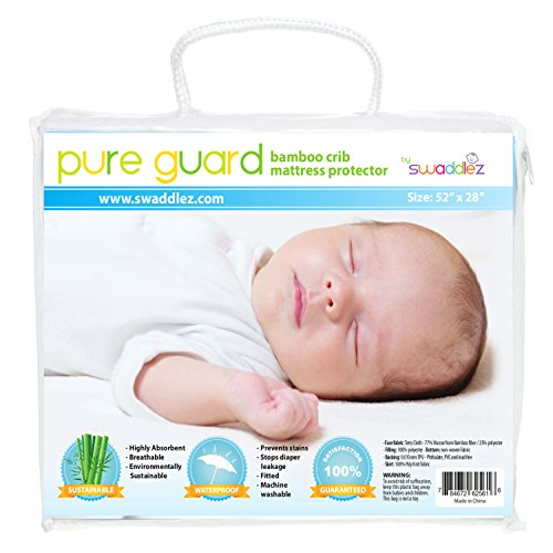 Purchase Crib Mattress Pad, Ultra Soft Bamboo Viscose, Waterproof, Fitted, Quilted, Premium Crib and...