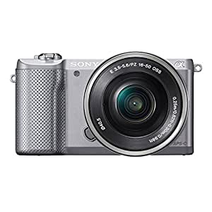 Sony A5000 ILCE5000LS.CEC Appareil photo numérique hybride 20,1 Mpix Zoom optique 3x Argent + Objectif 16-50 mm rétractable Argent