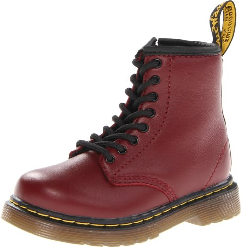 Dr. Martens CORE BROOKLEE, Stivali Unisex Bambino, Rosso (Cherry Red), 23