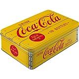 コカ・コーラ Coca-Cola - Logo Yellow / 缶ケース 平缶 ブリキ缶