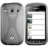 mumbi X-TPU Schutzhülle Samsung Galaxy Xcover 2 Hülle transparent schwarz