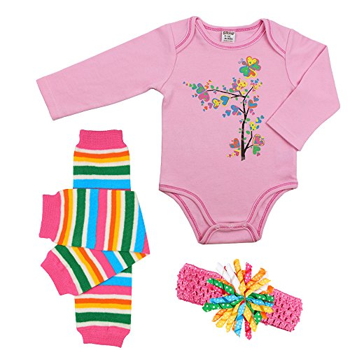 juDanzy baby girls t box outfit set 0 3 Months Flower