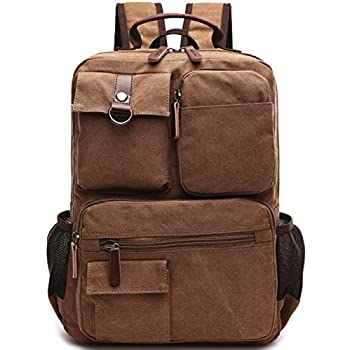 Aidonger Vintage Canvas School Backpack Laptop Backpack