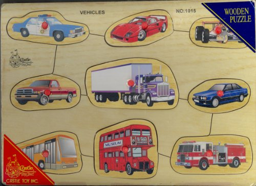 Picture of Castle Toy Vehicles Puzzle (B000Y1KM8K) (Pegged Puzzles)