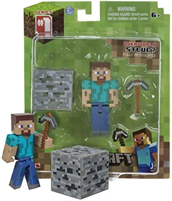 Overworld Steve 26 Minecraft Mini Fully Articulated Action Figure Pack by Jazwares