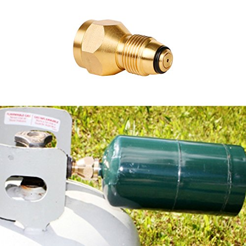 Propane Refill Adapter Lp Gas 1 Lb Cylinder Tank Coupler Heater Bottles Coleman Easy Propane Bottle Refill Alternative Materials Brass Brand New (Propane Adaptor Nozzle compare prices)