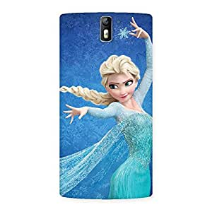 Cute Freezing Princess Multicolor Back Case Cover for One Plus One