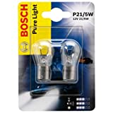 Bosch 1987301016, Car Light Bulb, P21/5W Pure Light, Brake Light, Turn Signal, Taillight, Licence Plate Light