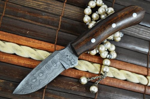 Reduced Now- Handmade Bushcraft Knife Damascus Steel- Camping knife - Out standing Value