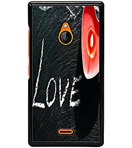 ColourCraft Love Image Design Back Case Cover for NOKIA XL