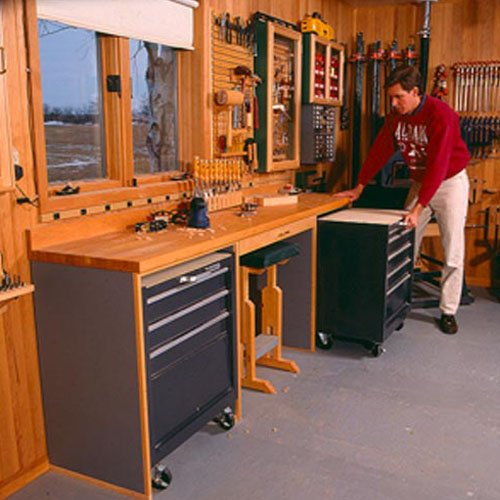 Space-Saving Workbench: Downloadable Woodworking Plan
