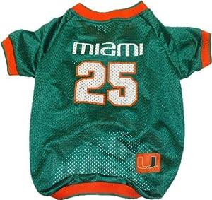 NCAA Dog Jersey, X-Small, University of Miami Hurricanes