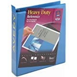 Avery Heavy-Duty Nonstick View Binder with 1.5 inch Rings, Blue, 1 Binder (5401)