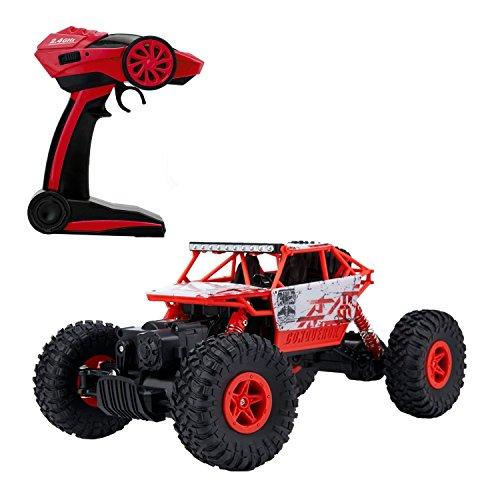 Teckey-P1801B-Gelndewagen-High-Speed-25-km-std-Fernabstand-ca-100m-Mastab-118-4x4-Schnelle-Race-Truck-24-GHz-Fernsteuerung-4WD-RC-Auto-rot