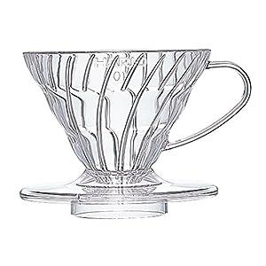 Hario VD-01T 1-Piece Plastic Coffee Dripper, Clear