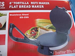 Stainless Steel 8 inch Tortilla Roti Maker