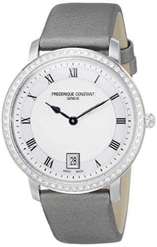 Frederique-Constant-Womens-FC220M4SD36-Slimline-Analog-Display-Swiss-Quartz-Grey-Watch