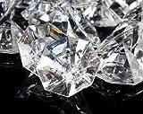 2 Pounds of 25 Carat Clear Acrylic Diamonds - Big Diamonds for Table Centerpiece Decorations, Wedding Decorations, Bridal Shower Decorations