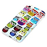 DeinPhone Small Coloured Owls Hardcase Cover Bumper for Apple iPhone 5C - Blue