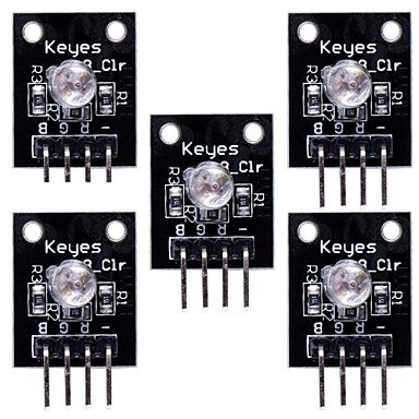 Commoon Rgb 3-Color Led Module For (For Arduino) - Black (5Pcs)
