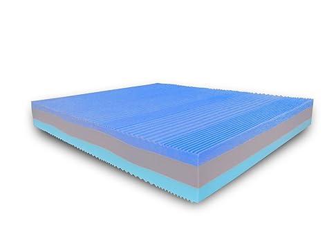 Baldiflex Materasso Matrimoniale Memory 3 Strati Arcobaleno Deluxe Fresh 160 x 200 cm – Silver Safe Cus. Saponetta Incl.