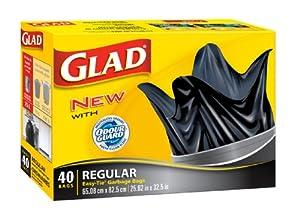 Glad Easy-Tie Regular Outdoor Garbage Bag 75 L 40 Count