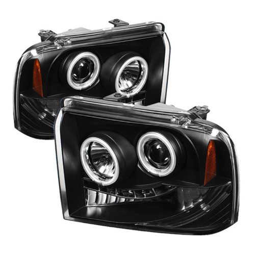 Spyder Auto Ford F250/350/450 Super Duty Black CCFL LED Projector Headlight