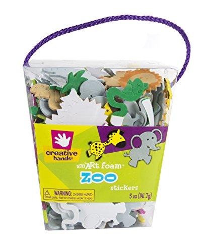 Creative Hands by Fibre-Craft Foam Sticker, 5-Ounce, Zoo - 1