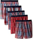 Hanes Men's 5-Pack Classics Fashion Plaids Boxer - Colors May Vary