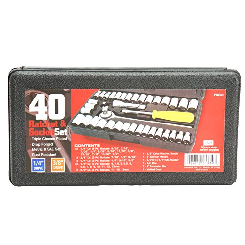 greatneck-pso40-40-piece-1-4-inch-and-3-8-inch-drive-socket-set