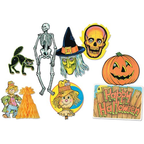 Halloween Decorama Party Accessory (1 count) (8/Pkg)