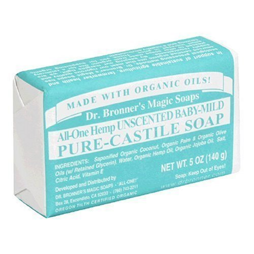 Dr Bronner Bar Soap Organic Mild Baby 5 oz (Multi-Pack) Fresh Smells Natural Shapoo