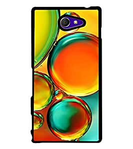 Colourful Bubbles 2D Hard Polycarbonate Designer Back Case Cover for Sony Xperia M2 Dual :: Sony Xperia M2 Dual D2302