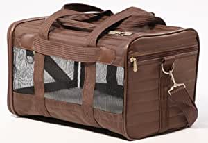 "Sherpa Bag Pet Carrier Small Brown 15"" long x 8.5"" high x 10"" wide"