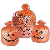 3 X Orange Halloween Kürbisse Laubsäcke Gartendekoration