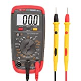 DMiotech Smart-B Digital Multimeter DMM Battery Tester Battery Load Test Resistance Continuity Diode AC/DC Voltage DC Current hFE Auto Off LCD Backlit