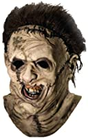 Texas Chainsaw Massacre Costume with Leather Face Deluxe Overhead Mask