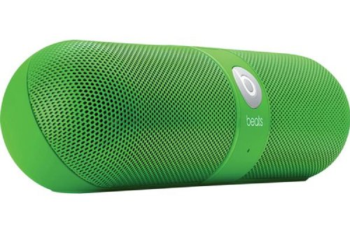 Beats By Dr. Dre Pill Portable Speaker (Neon Green) Bundle With Beats Usb Cable (Type A To Micro B) And Custom Designed Zorro Sounds Cleaning Cloth