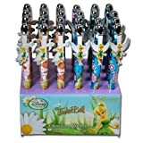 2 Piece Assorted Tinkerbell Fairies Shaped Character Metal Clip Pens
