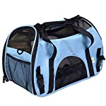 Super buy Small Pet Carrier OxFord Soft Sided Cat/Dog Comfort Travel Tote Shoulder Bag (blue)