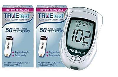 TrueTest 100 test strips (50 x 2) PLUS FREE METER!!!