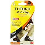 Futuro mens dress support socks, firm compression 20/30 mm/hg, black, size: large - 1 eaby Futuro
