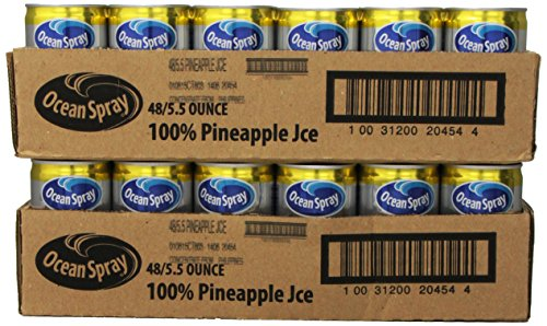 Ocean Spray Pineapple Juice 100%, 5.5-Ounce Cans (Pack of 48) (Can Orange Juice compare prices)